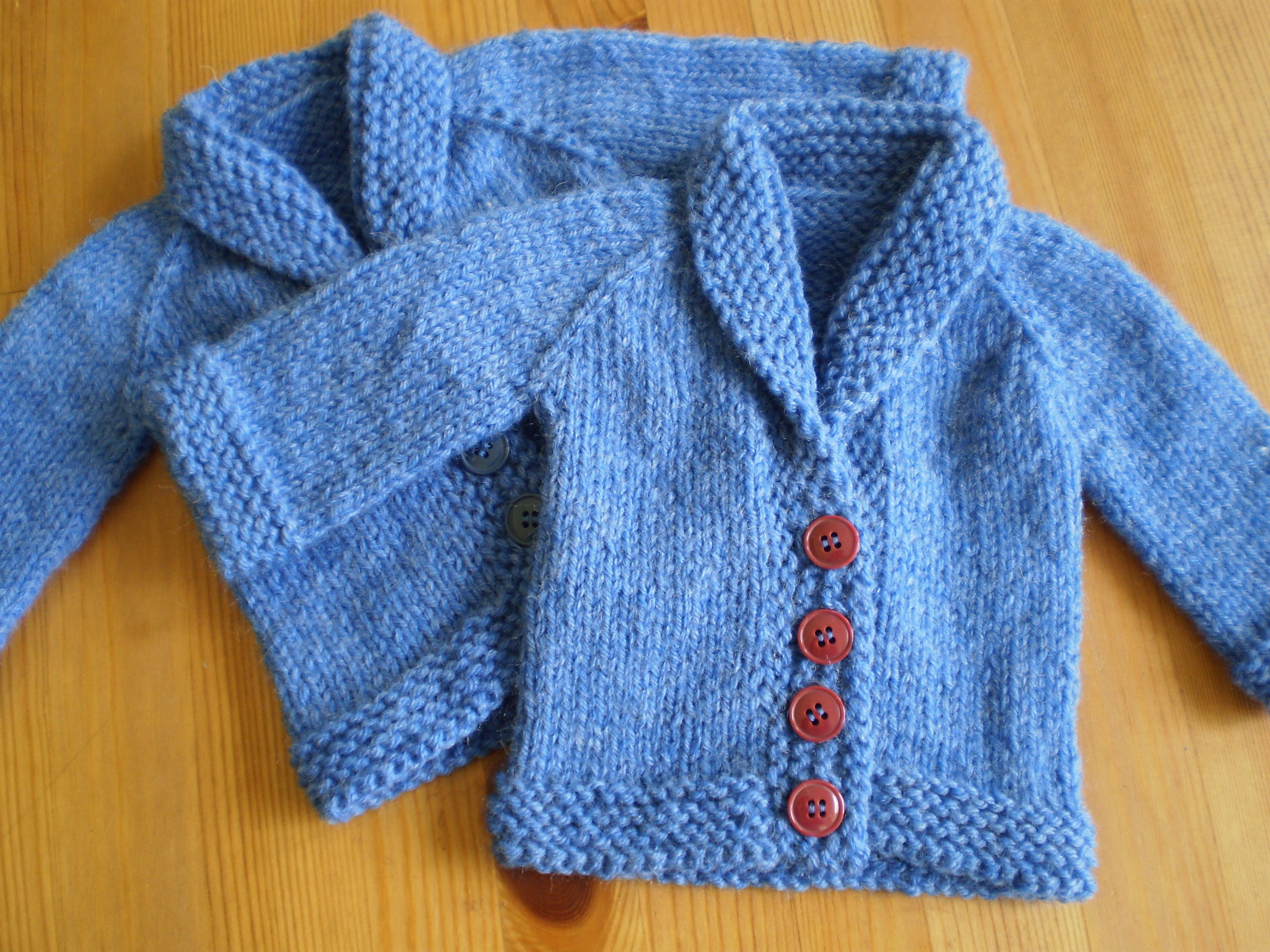 Free Knitting Pattern Baby Aran Cardigan : April 2014 On the Needles